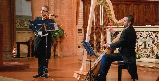 Violino e arpa nei salotti europei