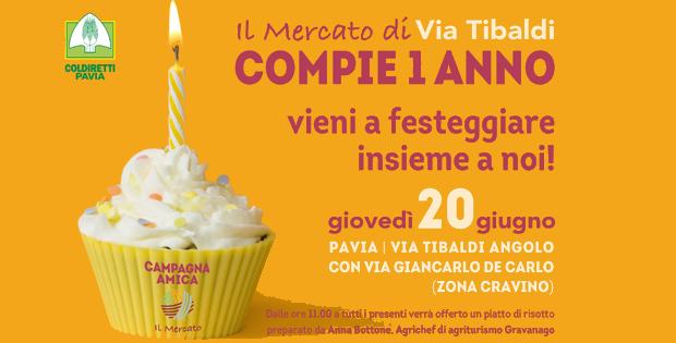 Il mercato di Campagna Amica in Via Tibaldi compie un anno!